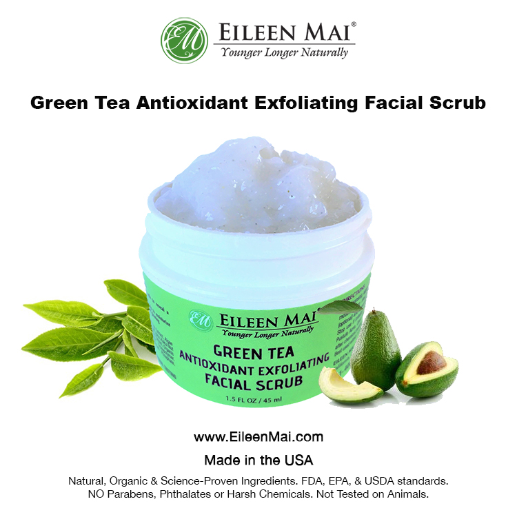 Green Tea Antioxidant Exfoliating Facial Scrub