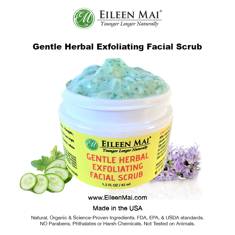 Gentle Herbal Exfoliating Facial Scrub